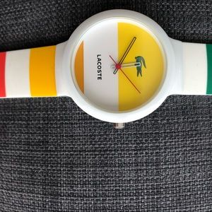 Lacoste colorful watch